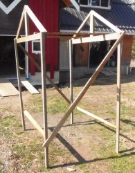 wooden tomato cage